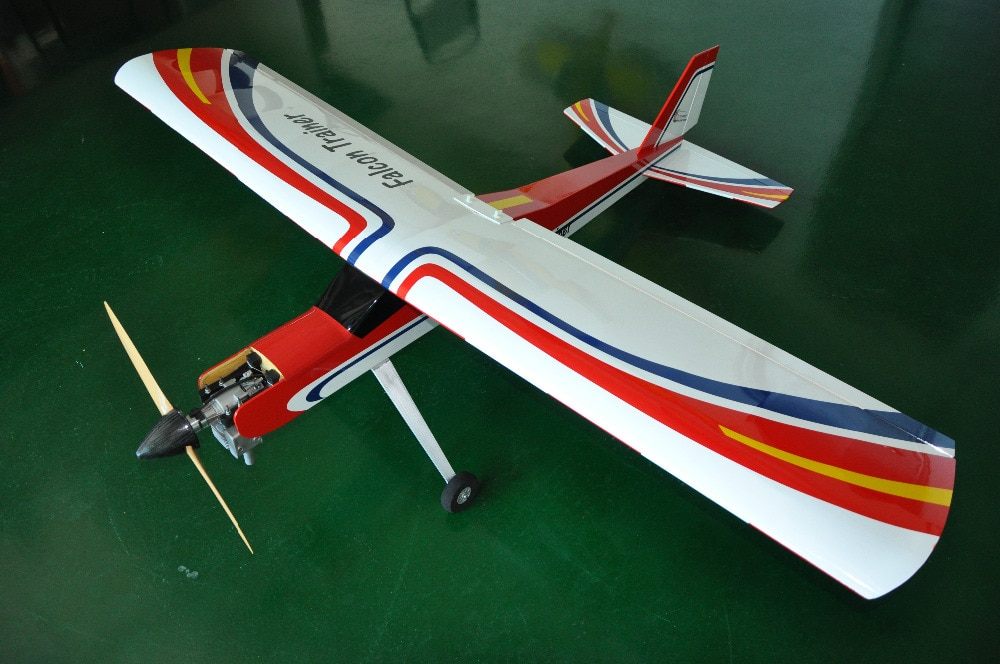 Falcon Trainer 20cc avión gasolina RC Balsa, modelo de avión de madera, avión para entrenamiento