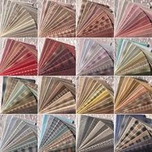Tissu polychromatique 23x33cm 11 pièces   Tissu lavé couture dol bricolage, tissu de poupée en coton à carreaux