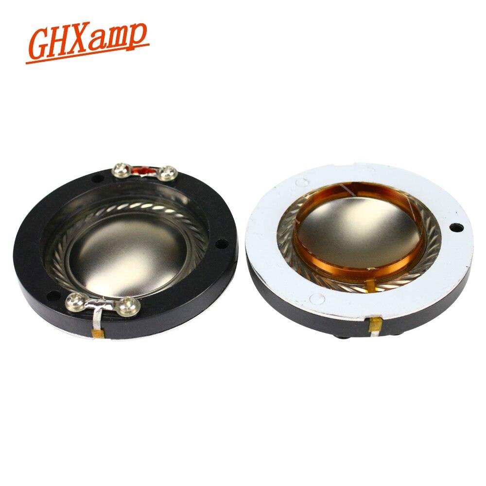 Ghxamp 34,4mm Tweeter Bobina de voz de titanio Soporte redondo alambre de cobre 35 núcleo triple Bobina de voz Tweeter piezas de reparación 2 uds