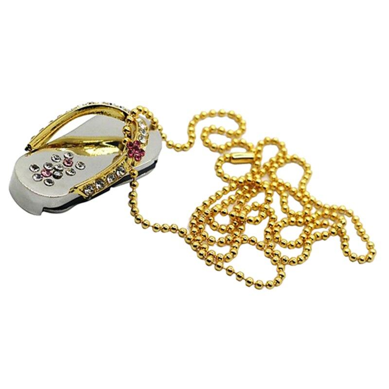Precioso Metal sandalia joya cristal Usb Flash Drive regalo especial moda Pendrive memoria Stick regalo