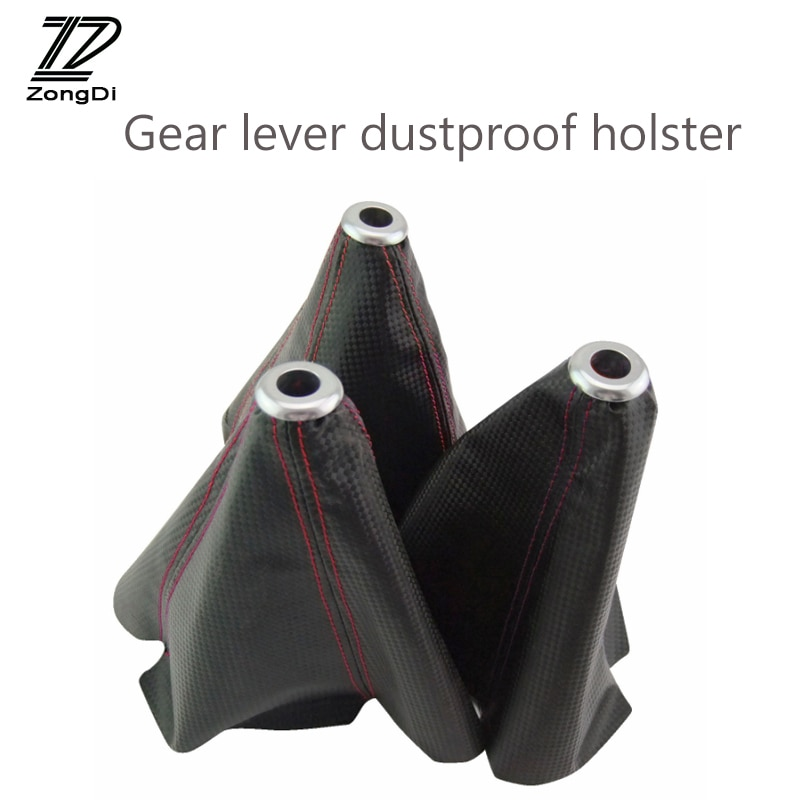 ZD 1X cubierta de fibra de carbono a prueba de polvo de palanca de cambios para BMW e46 e39 e90 Toyota yaris avensis Chevrolet cruze accesorios aveo