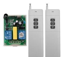 AC 220V 2CH RF 100-3000m Long Range Wireless Remote Control  Receiver+2*Transmitter tubular motor garage door projection screen
