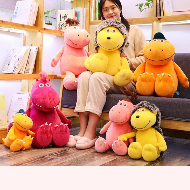 Juguetes de peluche para niños y niñas de 28-50cm, juguetes de peluche suave con dibujo del pequeño dragón de coco, lindo muñeco de dinosaurio almohada agradable