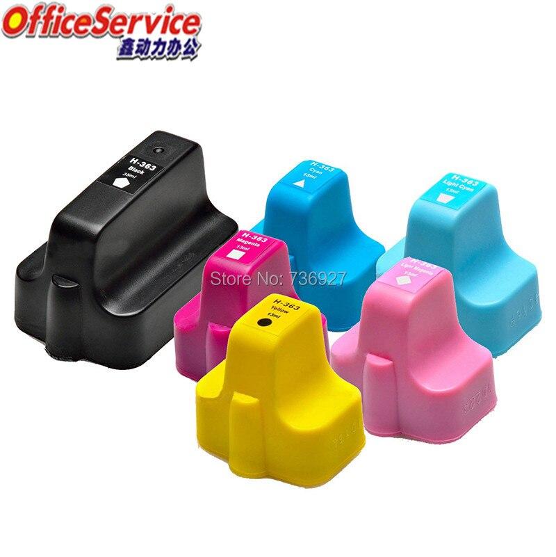 Cartucho Compatible para HP363 HP 363 para Photosmart D7300 D7100 C6100 C5100 8200, 3100, 3210 v, 3213, 8230, 8238, 8250 impresora