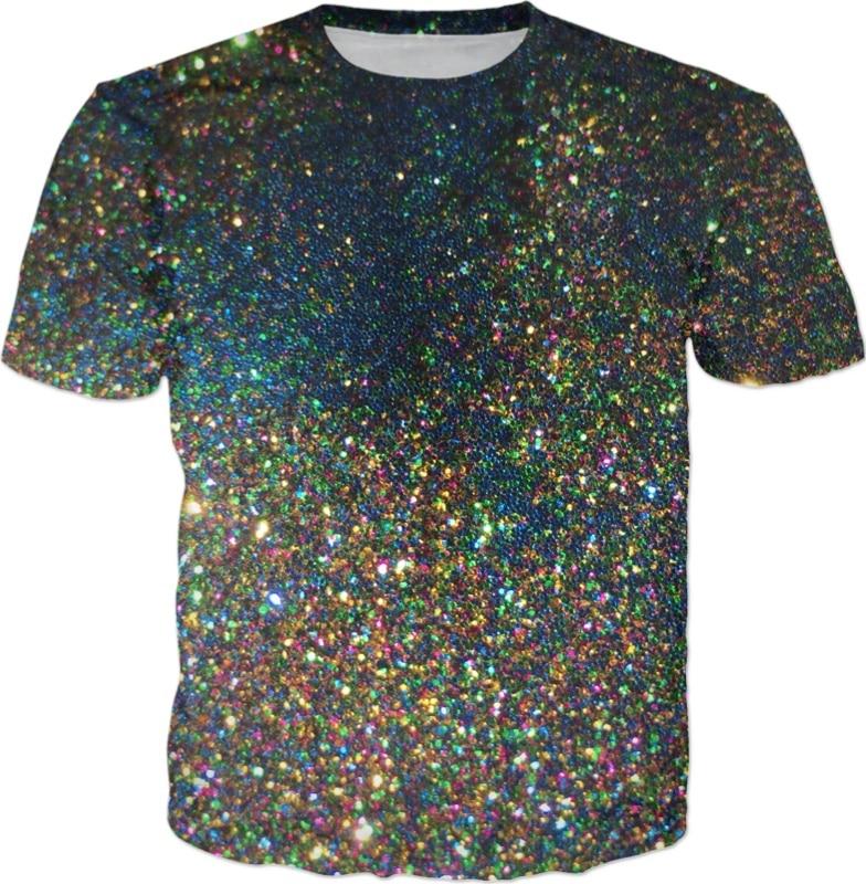Raum Glitter Gedruckt T-Shirt Lustige Mens 3d T Shirt Sommer Harajuku Hip Hop T Tops