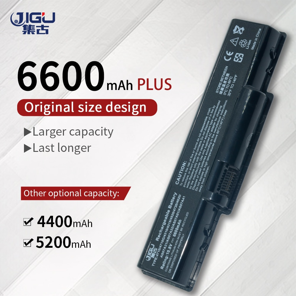 JIGU reemplazo de baterías para portátiles para Acer AK.006BT 20 AS5740 4920...