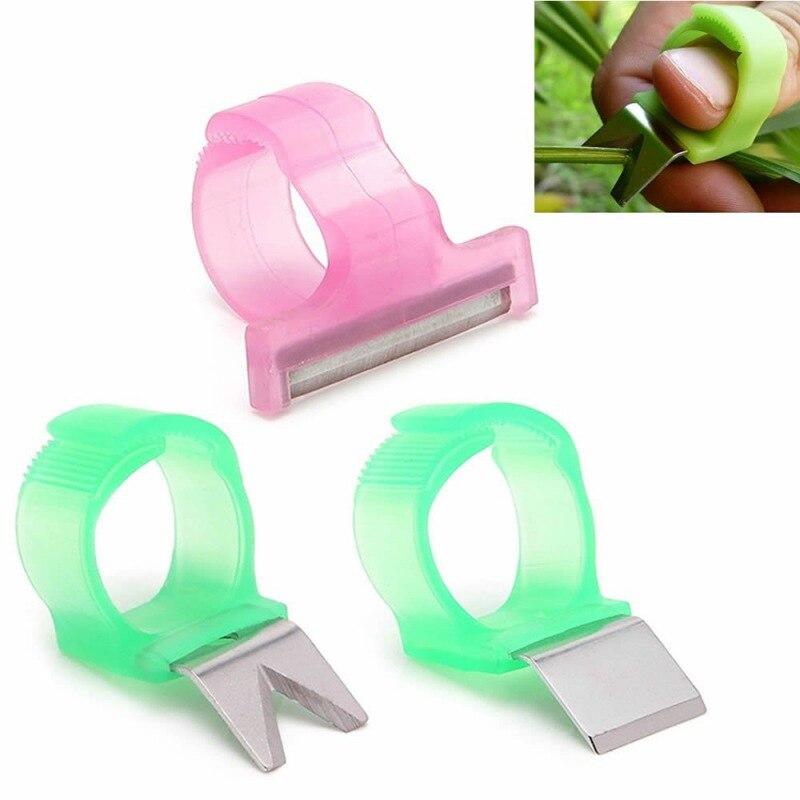 Adjustable Vegetable Fruit Picker Picking Finger Ring Harvesting Cut Melon Scissors Rings Garden Tools