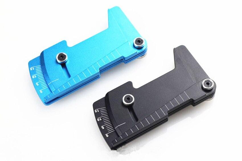 GWOLVES CNC 1/10 1/8 regla ajustable RC altura del coche y Llanta de rueda herramientas de Camber piezas de control remoto Buggy en la carretera Tamiya HSP TRAX