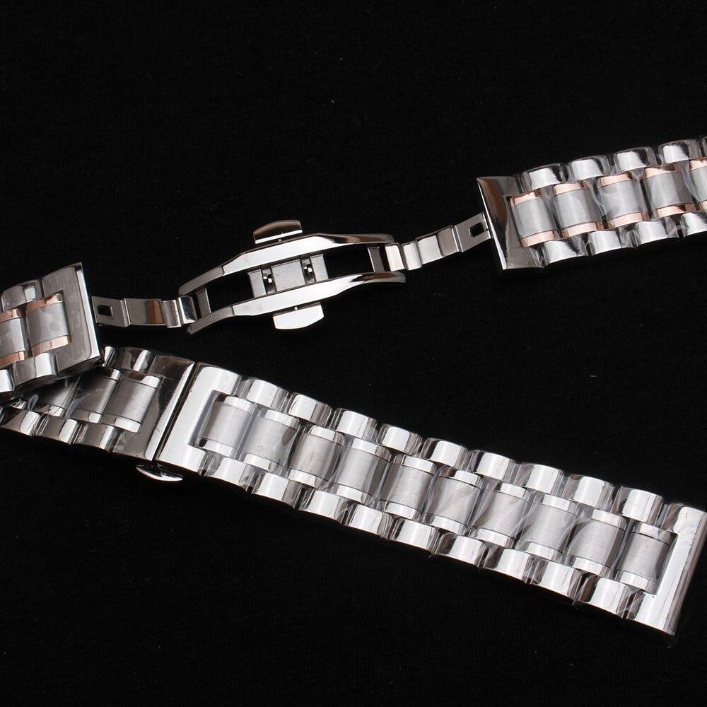 Высококачественный плоский конец   изогнутый конец из нержавеющей стали браслет для часов для мужчин 14 мм 15 мм 16 мм 17 мм 18 мм 19 мм 20 мм 21 мм 22 м...