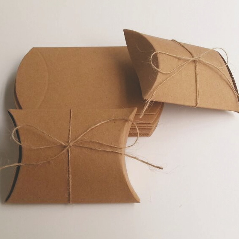 10 штук крафт-бумажная подушка, картонная коробка, маленький размер, бумажная коробка для точечных подушек, Подарочная коробка для бумажных коробок, коробка для конфет