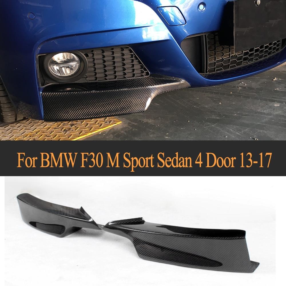 3 serie Carbon Fiber Front Bumper Splitter Lip Klappen Schürze für BMW F30 M Sport Limousine 4 Tür 2013-2017 P tyle 325i 328i 335i