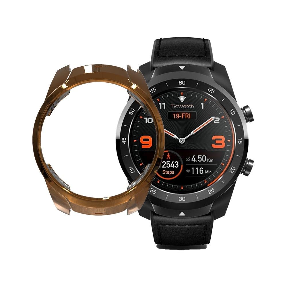 Para Ticwatch Pro TPU caja de reloj inteligente cubierta ahuecada funda protectora para Ticwatch Pro Smart funda para reloj