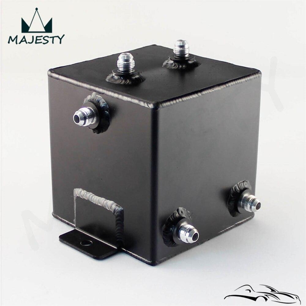 Réservoir universel en Aluminium 2L AN6   En Aluminium 2L, Port masculin, réservoir de montée deau de carburant 2 litres, Port tourbillon poli