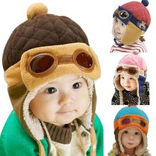 Chapeaux pour bébé 4 couleurs   Bonnets et bonnets pour bébés garçons et filles, casquettes de pilote, chapeau à rabat doreilles, bonnet dhiver chaud pour bébés