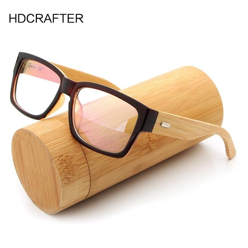 Деревянные оправы для очков HDCRAFTER, мужские большие бамбуковые оправы для очков, прямоугольные очки для чтения, оптические оправы для очков