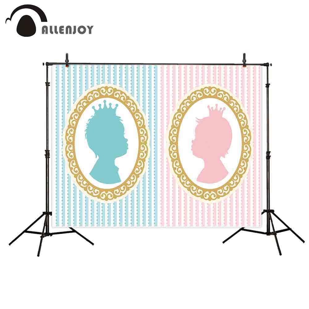 Allenjoy photophone retrato puerta chico chica raya rosa y azul bebé guess oval marco foto estudio recién nacido fotografía telón de fondo