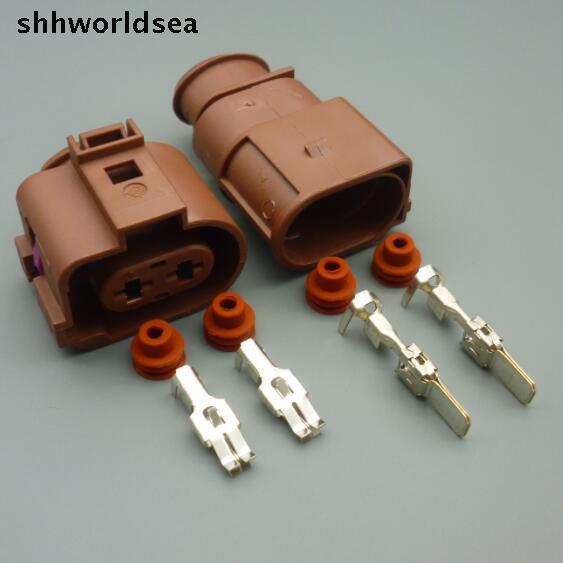 Штепсельная Вилка для автомобильного вентилятора shhworld, 2 pin, 2 способа, 6,3 мм, 1J0, 973, 752A, 3B0, 973, 852 А, клеммы для автомобильных деталей для Volkswagen ...