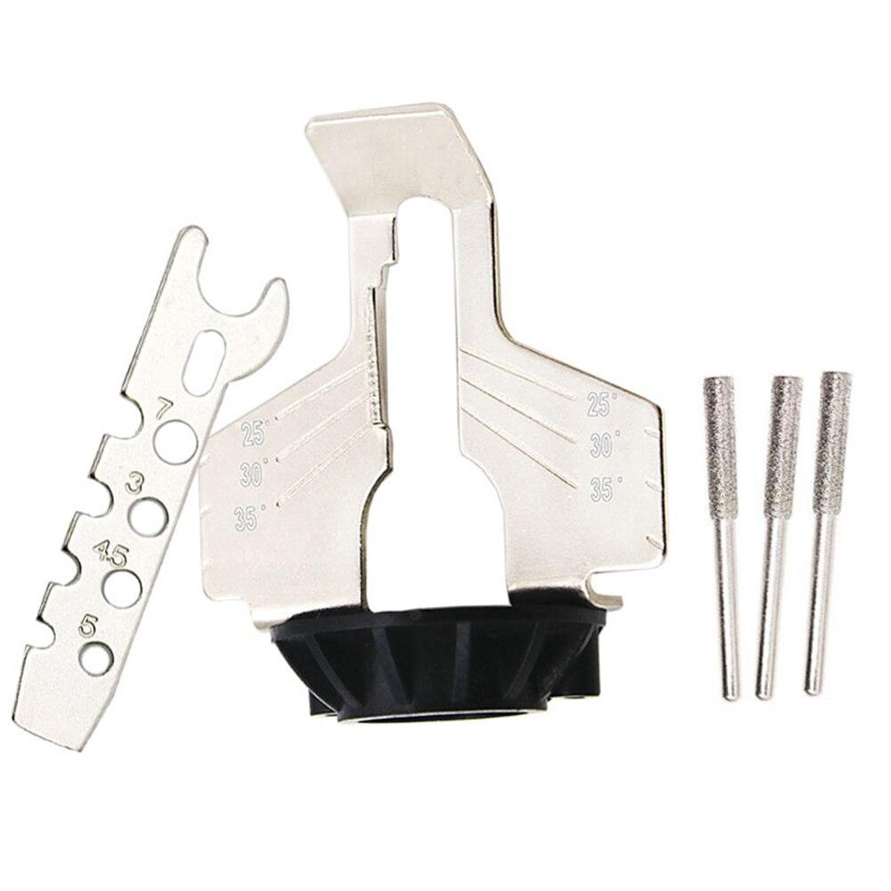 Kit per affilare motoseghe smerigliatrice elettrica set di accessori - Utensili abrasivi - Fotografia 4