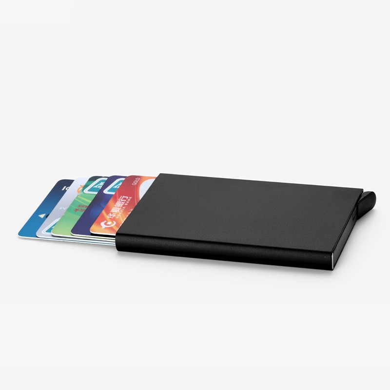 Credit Card Holder Men Slim Anti Protect Travel ID Cardholder Women Rfid Wallet Metal Case Porte Car