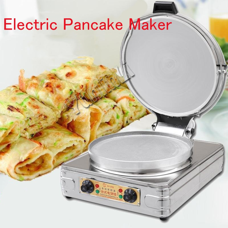 Electric Pancake Maker Round Pancake Skillet Commerical/Household Pancake Cooker Double-sided Pancake Heater DY-20