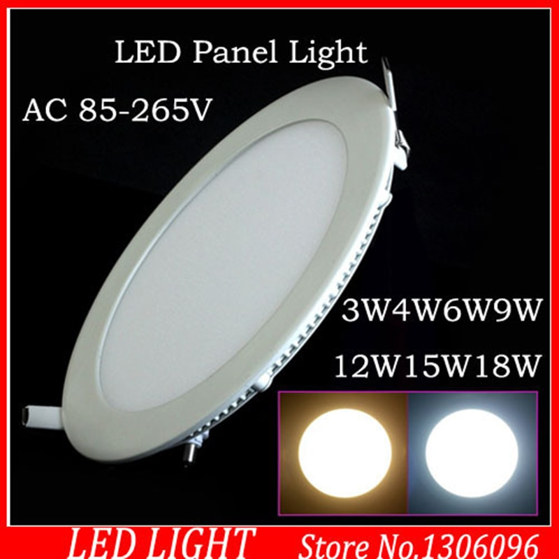 3 W/4 W/6 W/9 W/12 W/15 W/18 W ultra fino levou Plana lâmpada Warm White energy saving ultrafino lâmpada do Teto para cozinha casa de banho
