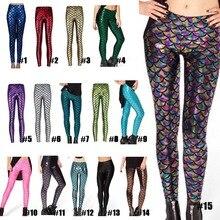 Nouveau pantalon de mode impression numérique femmes sirène poisson échelle Leggings LXH