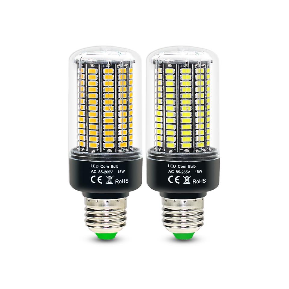 2 шт./лот светодиодная кукурузная лампа SMD5736 без мерцания умная IC E27 E14 Светодиодная лампа AC85-265V 28 40 72 108 132 156 светодиодов светодиодная лампочка...