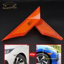 Reamocéa feu clignotant gauche droite   Marqueur latéral de voiture 2 pièces pour garde-boue feu arrière, compatible avec Civic 2016 2017