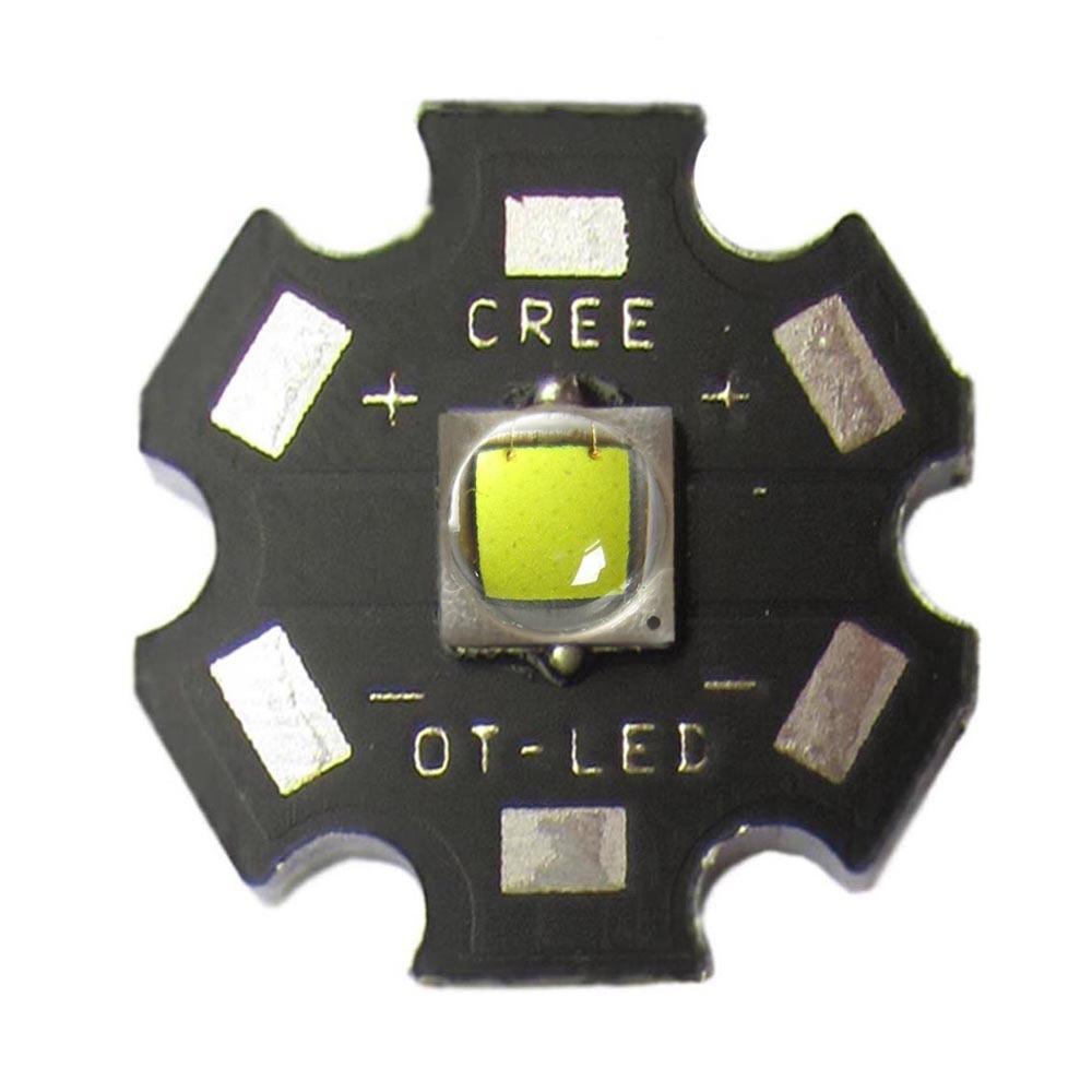 Original 10W CREE XML XM-L L2 / XML T6 White 6500K Flashlight LED light Part With 20mm Star Base