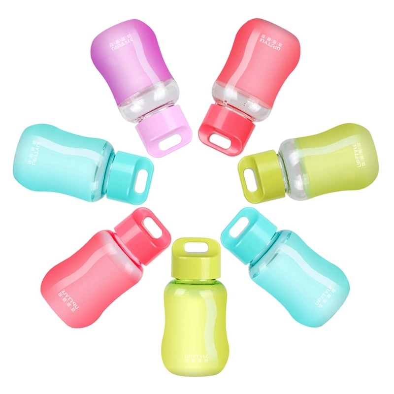 Botella de agua de plástico de 180Ml Mini botella linda de dibujos animados para niños portátil a prueba de fugas pequeña botella de agua libre de Bpa