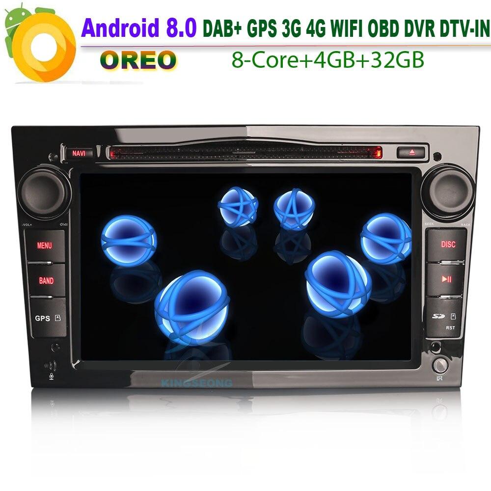 Autoradio Voor Opel vectra c Zafira Corsa C Android 8.0 GPS Radio DAB DVD CD Bluetooth USB SD DVR AUX OBD Octa Core CPU 4 GB RAM