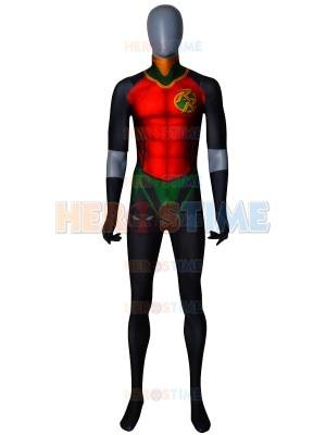 Disfraz de Robin Rebirth Red Cosplay Robin Zentai adulto traje sin capa Anime mono de fiesta de superhéroes puede personalizarse envío gratis