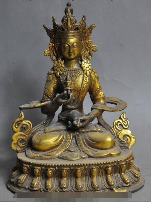 S01311 viejo tibet, Budismo de bronce dorado de Vajrasattva tara Guan Yin Kwan-Yin diosa estatua B0403