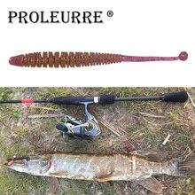 Appâts de pêche protypiques 10 pièces/lot vers de terre douce leurre de pêche 60mm 0.6g vers souples Jig odeur de poisson appâts de pêche appâts artificiels