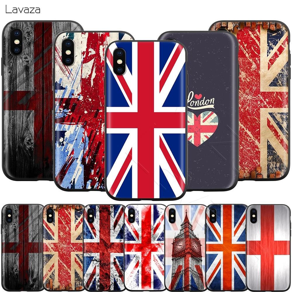 Lavaza anglia brytyjska angielska flaga brytyjska dla iPhone 11 Pro XS Max XR X 8 7 6 6S Plus 5 5s se