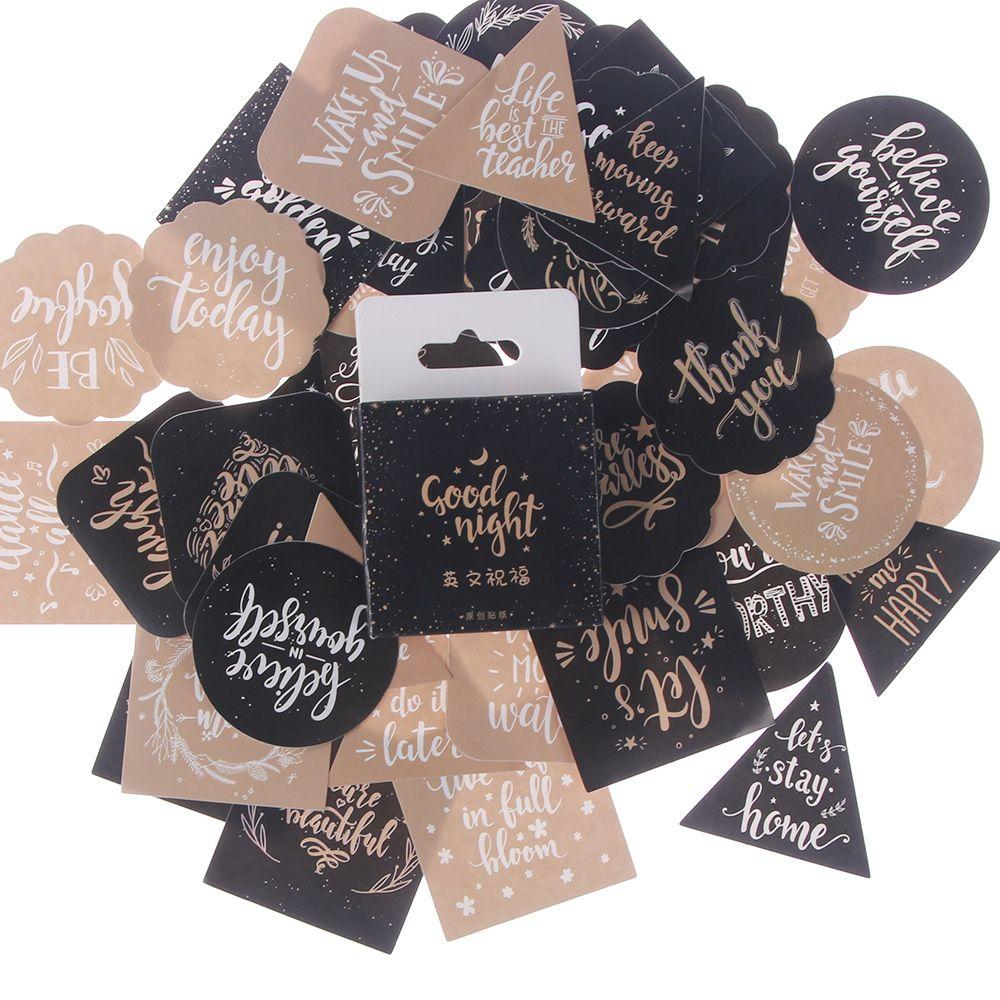 45 unids/lote DIY creativo saludo texto de juguete álbum de calendario pegatina planificador de colección de recortes pegatina Material decoración papelería