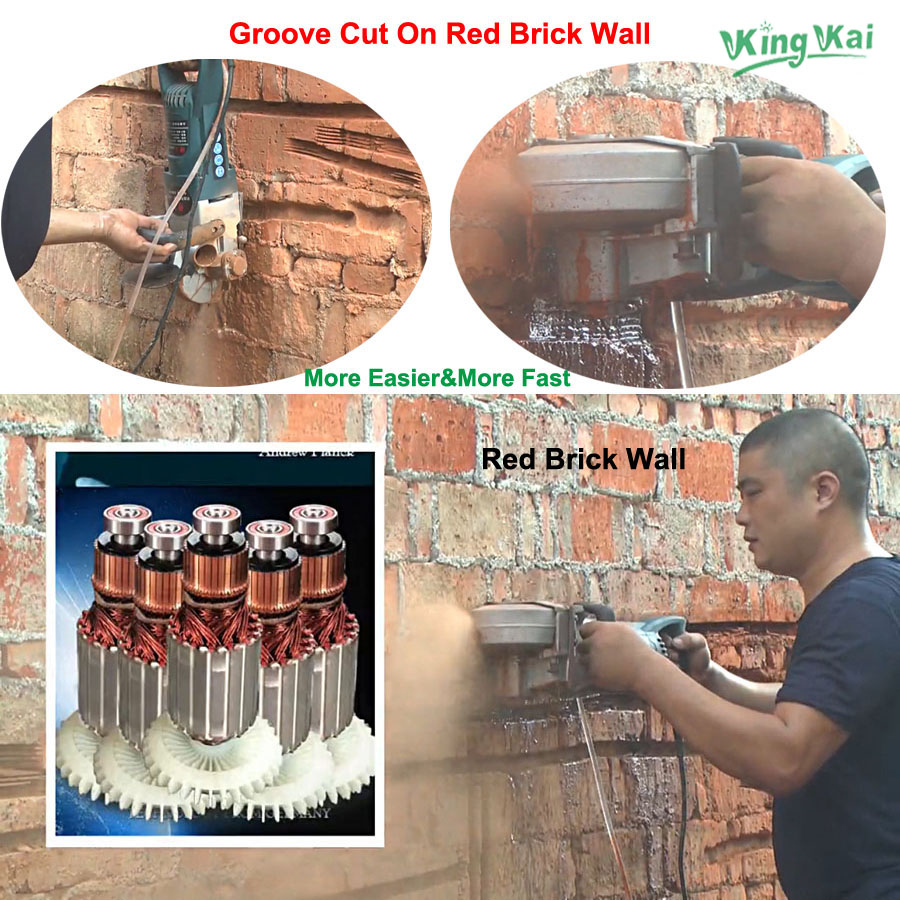 121mm Blade CW6121 4800W Multifunction Wall Stone Road Groove Cutting Chasing Machine Tool Set enlarge