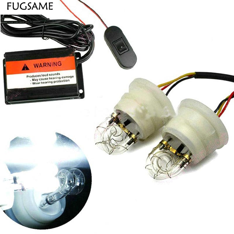 FUGSAME Car spiral tube flash lamp high power fog lamp u flash lamp   Multi-Function Adjustable Warning Strobe Light white