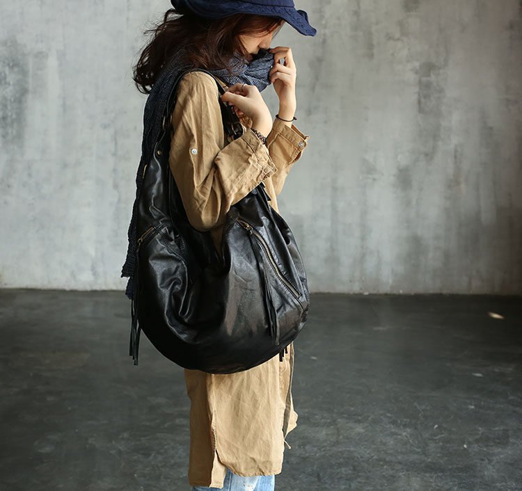 Vendang new fashion European and American Style handmade genuine leather shoulder bag / cowhide knapsack2059