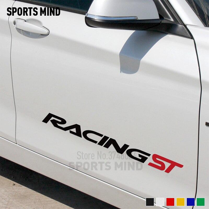 1 пара настраиваемых стикеров ST гоночный автомобиль наклейка для ford focus BMW Honda Audi VW Volkswagen Toyota Renault аксессуары