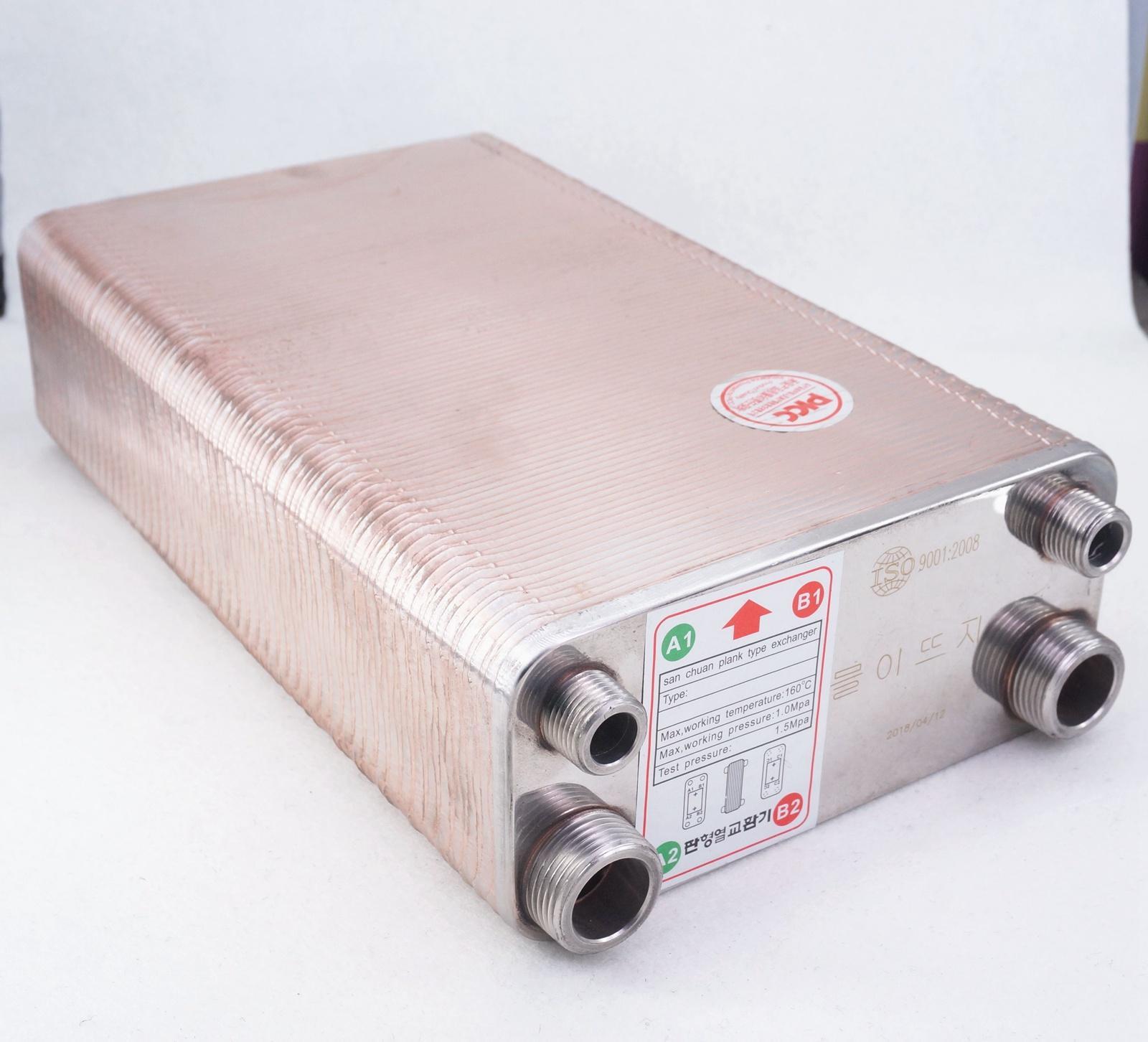 مبادل حراري SUS 100 من الفولاذ المقاوم للصدأ ، 304 لوحة ، مبرد نقيع ، صناعة منزلية ، تخمير ، بيرة ، نبيذ 1.6Mpa