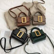Luxueux métal boucle carrée petit sac carré pour dames mode Pu cuir sacs à bandoulière femme quotidien sauvage Messenger sac nou