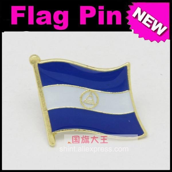 Pin de solapa bandera de Nicaragua Pins en todo el mundo insignia emblema país Estado Pins