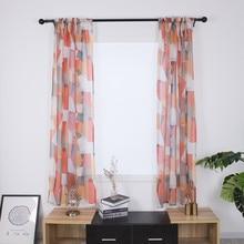 Rideau de feuilles traitement de fenêtre   2020. Rideau de feuilles plus utile, drapé Valance de Voile, tissu à 2 panneaux, cortinas ménagers