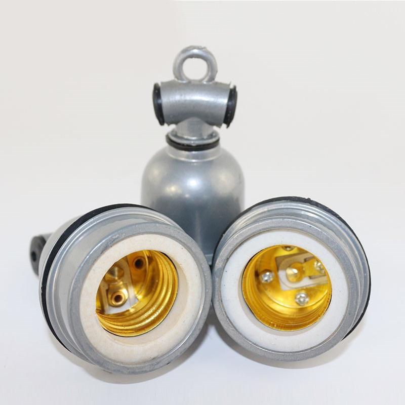E27 de alumínio do vintage retro suporte base da lâmpada parafuso cerâmica resistência ao calor escudo lâmpada luz parafuso soquete adaptador de luz teto