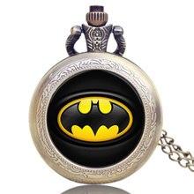 Hot Fashion Batman Theme Pocket Watch DC Comics Design Quartz Watches Gift For New Year 2018