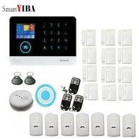 SmartYIBA-App Smartphone telecommande Wifi   Systeme dalarme de securite GSM  carte SIM 2G  alarme de cambrioleur  Kits de maison pour la securite de la maison