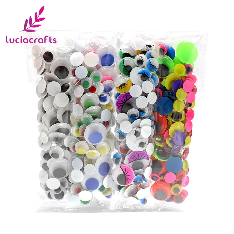 Conjunto de lote de 4x125 piezas de, lote de mezcla de tamaños, no autoadhesivos, ojos movibles utilizados para artesanía de muñecas, accesorios DIY K0908