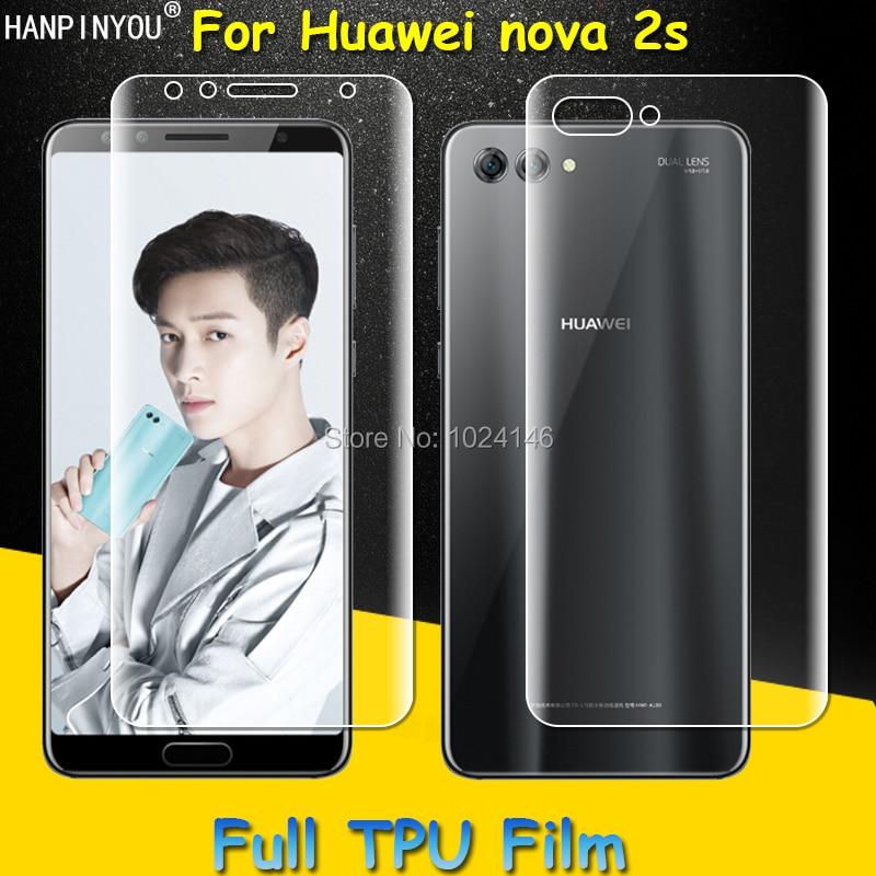 Front / Back Full Coverage Clear Soft TPU Film Screen Protector For Huawei nova 2s 6.0