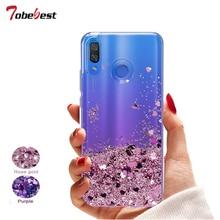 Carcasa con purpurina líquida para Samsung Galaxy A30 A50 A70 funda de silicona Samsung A30 A50 A70 Dynamic Qicksand Star amor corazón cubierta